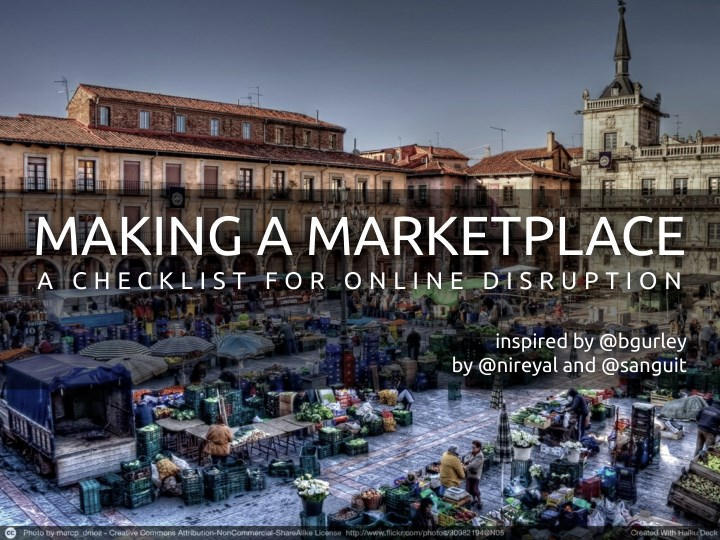 Making a marketplace