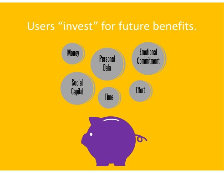 "Users""invest""forfuturebenefits."