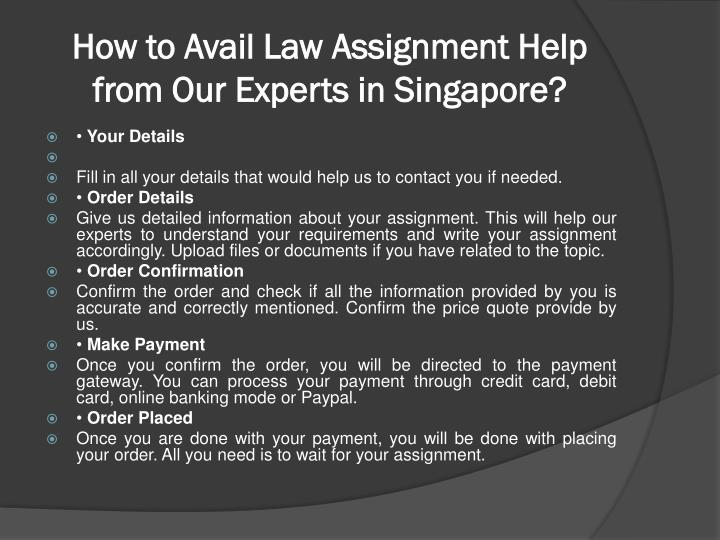 assignment help in singapore Assignment help singapore services offered by studentsassignmenthelpcom is most trusted and recommended among singapore students 3000 experts - 10 years experienced.