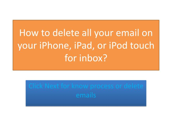 how to delete all emails in inbox on my ipad