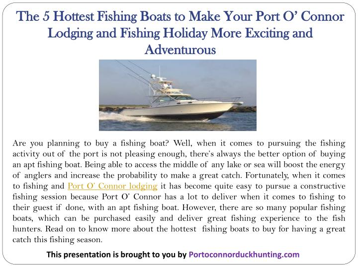 The 5 hottest fishing boats to make your port