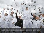 u s naval academy graduates throw their hats into