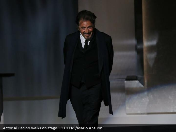Actor Al Pacino walks on stage. REUTERS/Mario Anzuoni