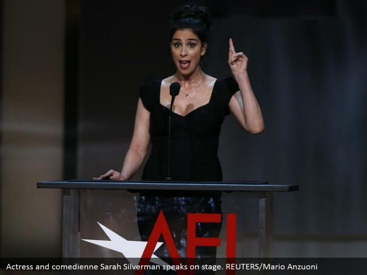 Actress and comedienne Sarah Silverman speaks on stage. REUTERS/Mario Anzuoni