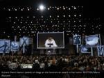 actress diane keaton speaks on stage