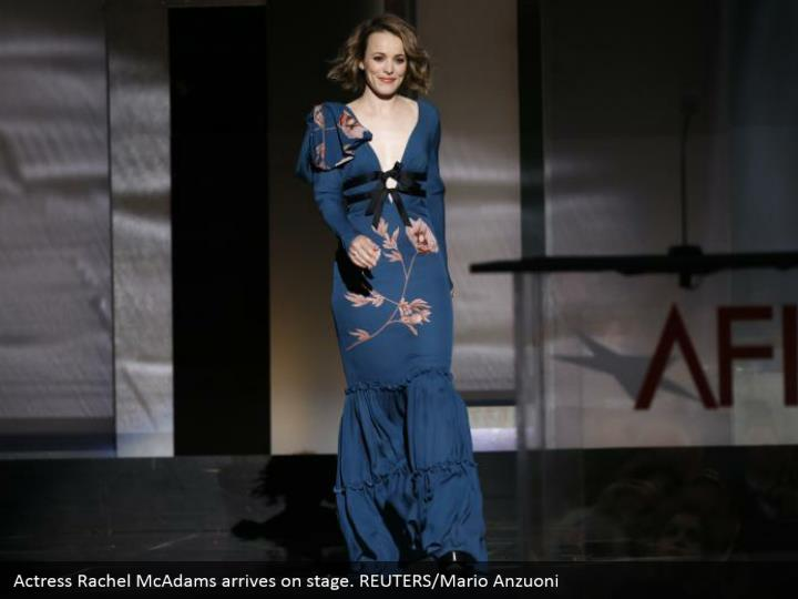 Actress Rachel McAdams arrives on stage. REUTERS/Mario Anzuoni