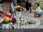 a guest visits the memorial outside the pulse