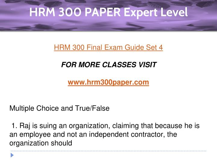 hrm exam paper Start studying hrm exam #1 learn vocabulary, terms, and more with flashcards, games, and other study tools.
