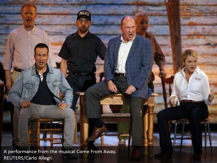 A performance from the musical Come From Away.  REUTERS/Carlo Allegri