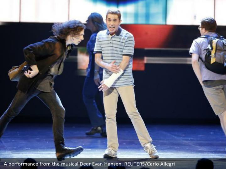 A performance from the musical Dear Evan Hansen. REUTERS/Carlo Allegri
