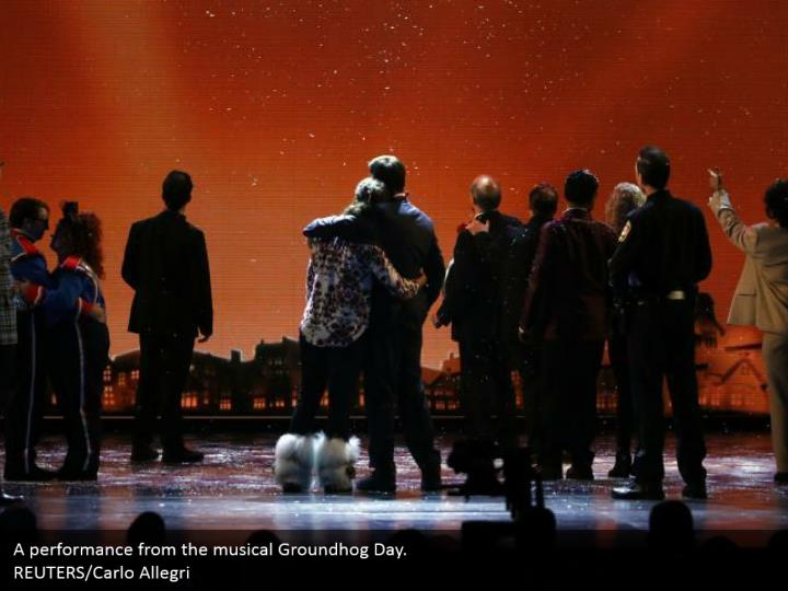 A performance from the musical Groundhog Day.  REUTERS/Carlo Allegri