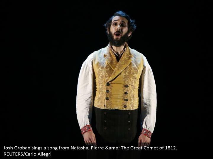 Josh Groban sings a song from Natasha, Pierre & The Great Comet of 1812.  REUTERS/Carlo Allegri