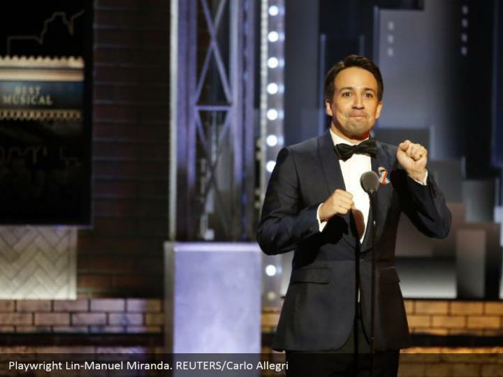 Playwright Lin-Manuel Miranda. REUTERS/Carlo Allegri
