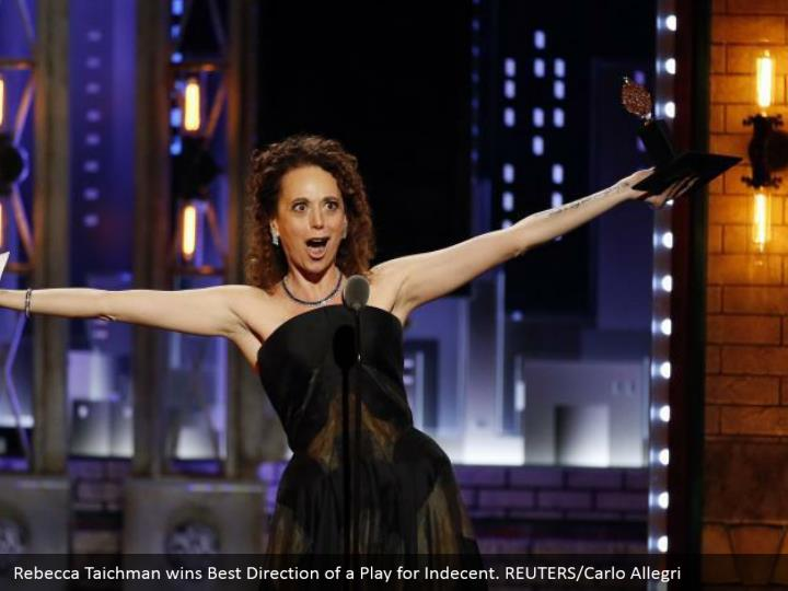 Rebecca Taichman wins Best Direction of a Play for Indecent. REUTERS/Carlo Allegri