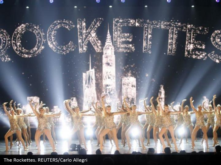The Rockettes. REUTERS/Carlo Allegri