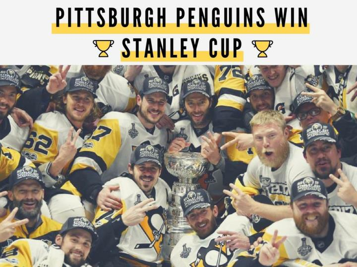 Pittsburgh penguins win stanley cup