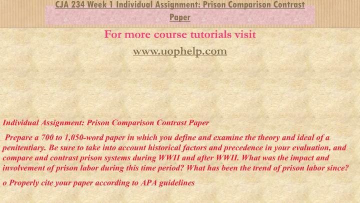 jail and prisons comparison paper Jail is usually the first place a person is taken after being arrested by police officers the authority of states to build, operate, and fill jails can be found in the tenth amendment, which has been construed to grant to states the power to pass their own laws to preserve the safety, health, and welfare of their communities.