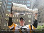 center sidney crosby hoists the stanley