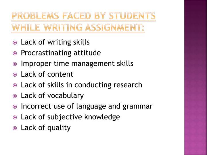 Writing skills writing assignment