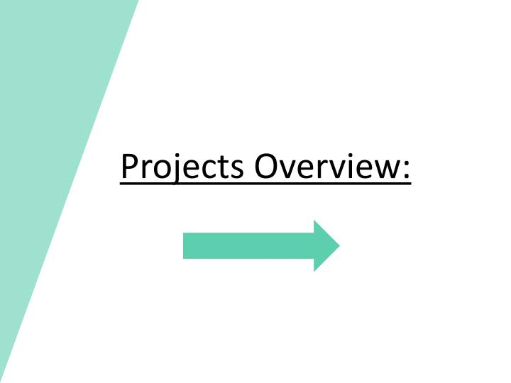 Projects Overview: