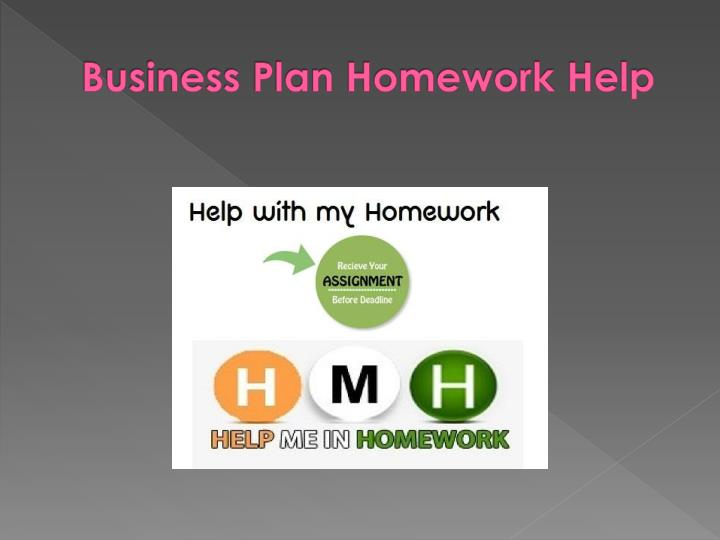 Homework help for business