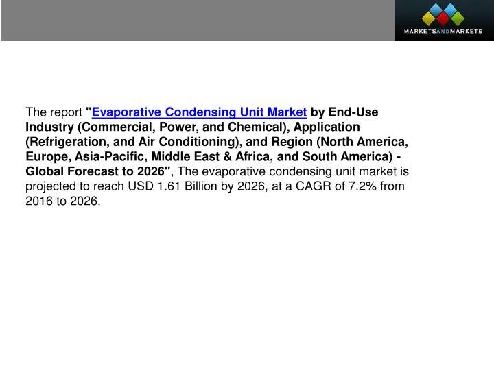 Evaporative Condensing Unit : Ppt condensing unit market worth billion usd by