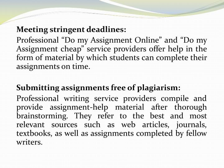 A Genuine Service For Your Assignments Writing