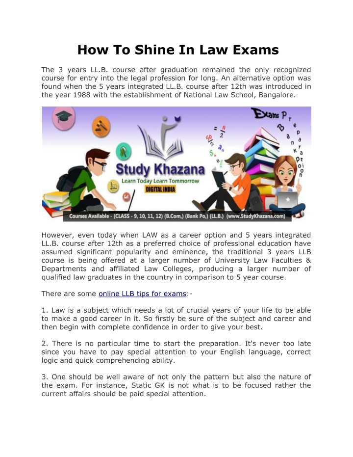 how to study for law exams uk