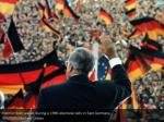 helmut kohl waves during a 1990 electoral rally