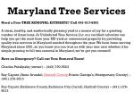 maryland tree services need a free tree removal