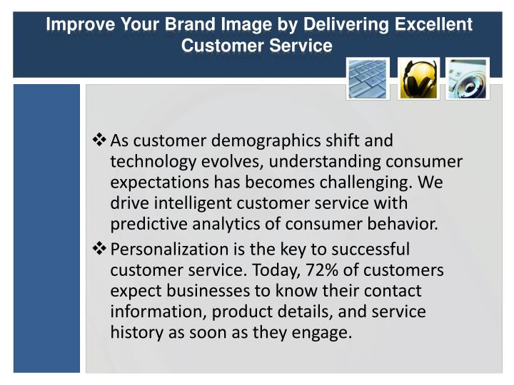Improve your brand image by delivering excellent customer service 1