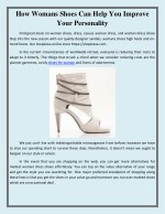 how womans shoes can help you improve your