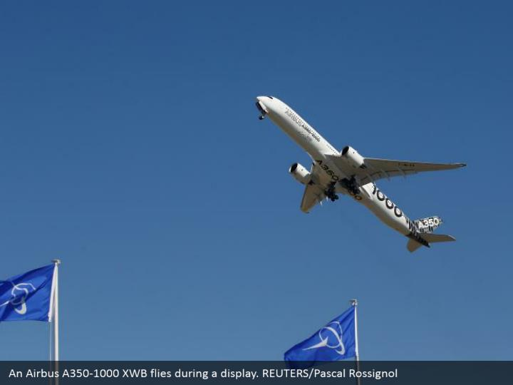 An Airbus A350-1000 XWB flies during a display. REUTERS/Pascal Rossignol