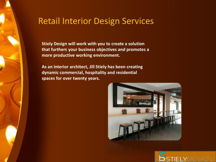 Retail interior design services