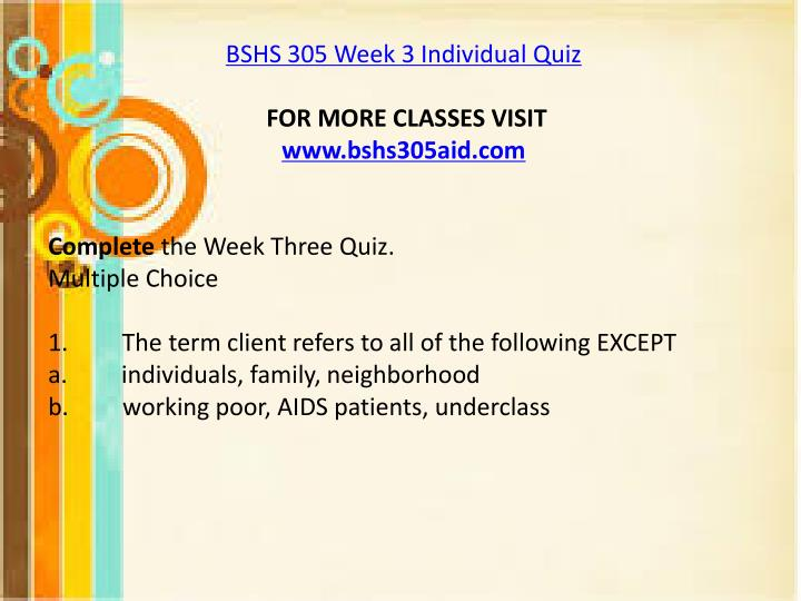 is 305 week 3 quiz