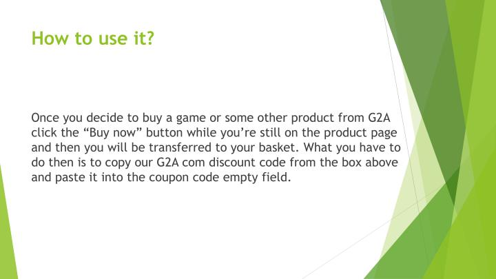 How to use coupons on g2a