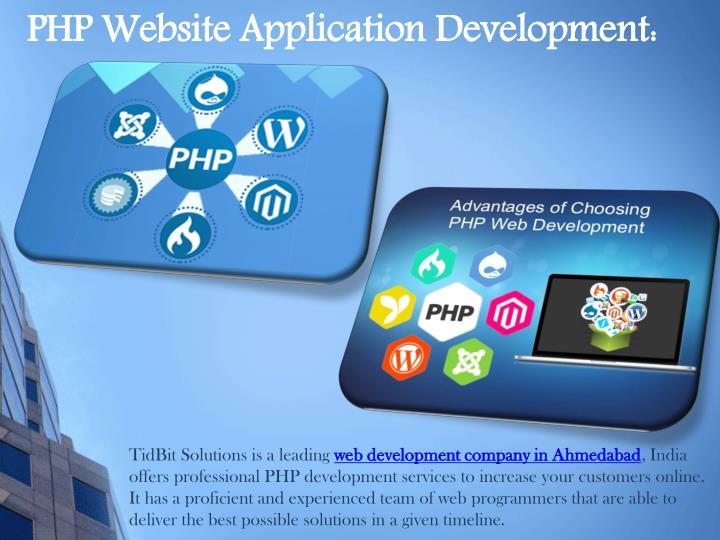 PHP Website Application Development: