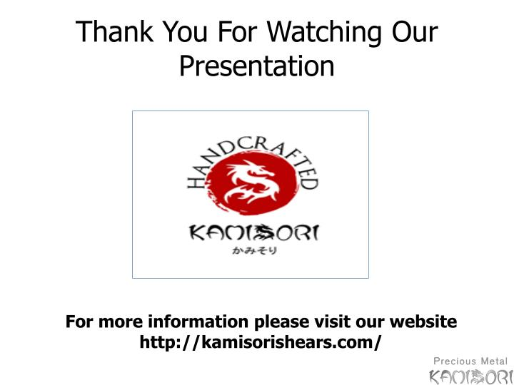 Thank You For Watching Our Presentation