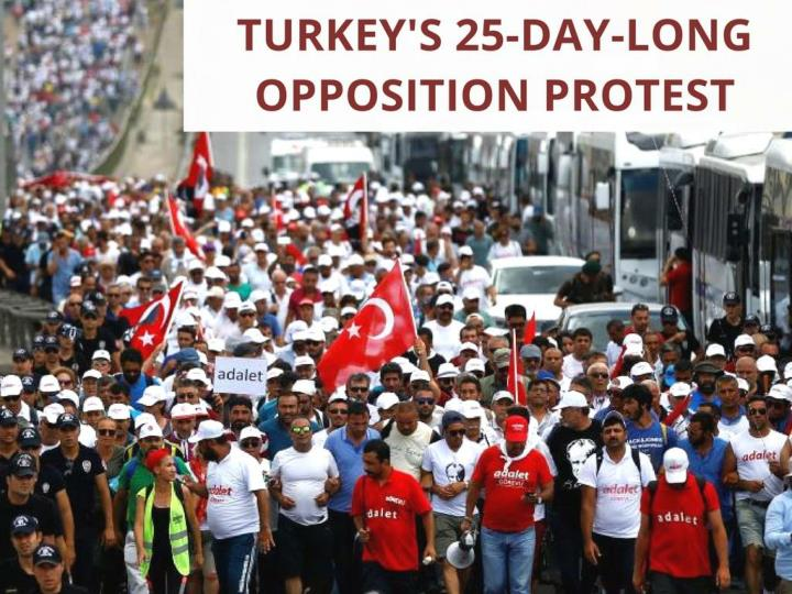 Turkey's 25-day-long opposition protest
