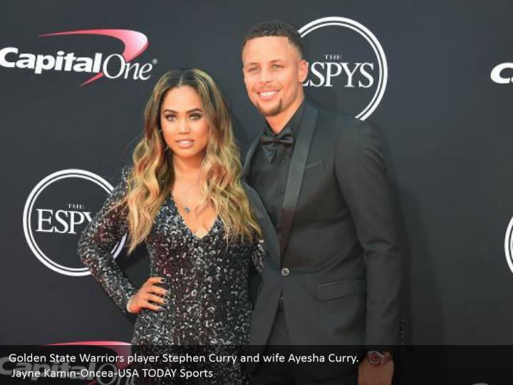 Golden State Warriors player Stephen Curry and wife Ayesha Curry.  Jayne Kamin-Oncea-USA TODAY Sports