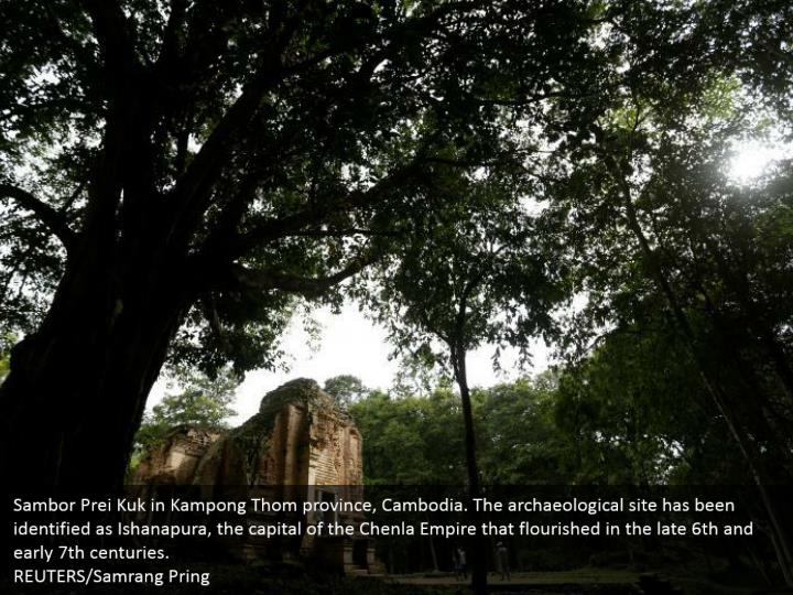 Sambor Prei Kuk in Kampong Thom province, Cambodia. The archaeological site has been identified as Ishanapura, the capital of the Chenla Empire that flourished in the late 6th and early 7th centuries.  REUTERS/Samrang Pring