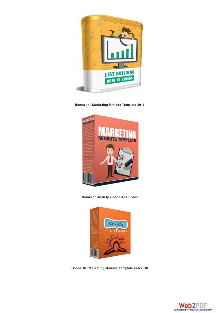 Bonus 14 : Marketing Minisite Template 2016