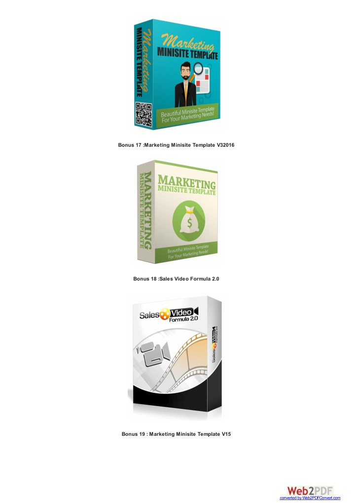 Bonus 17 :Marketing Minisite Template V32016