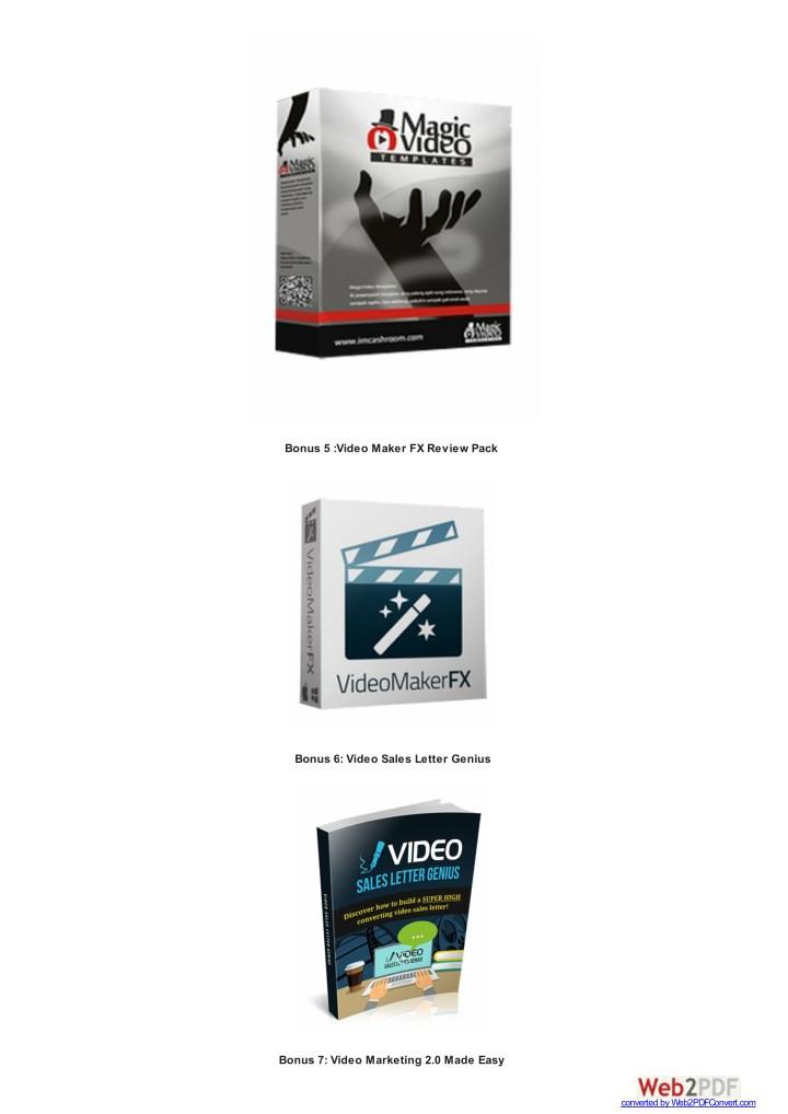 Bonus 5 :Video Maker FX Review Pack