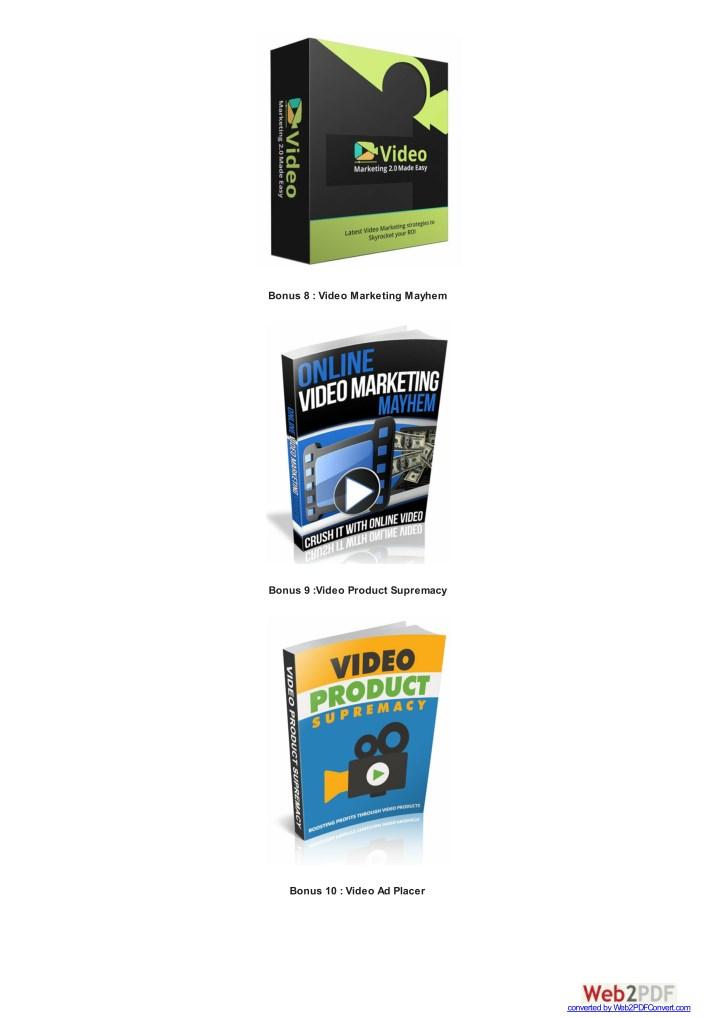 Bonus 8 : Video Marketing Mayhem