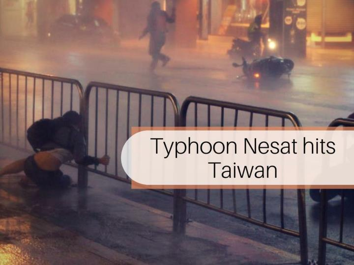 typhoon nesat hits taiwan