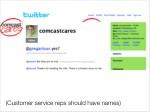 customer service reps should have names