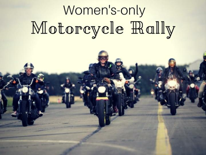 Women s only motorcycle rally