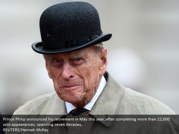 Prince Philip announced his retirement in May this year, after completing more than 22,000 solo appearances, spanning seven decades.  REUTERS/Hannah McKay