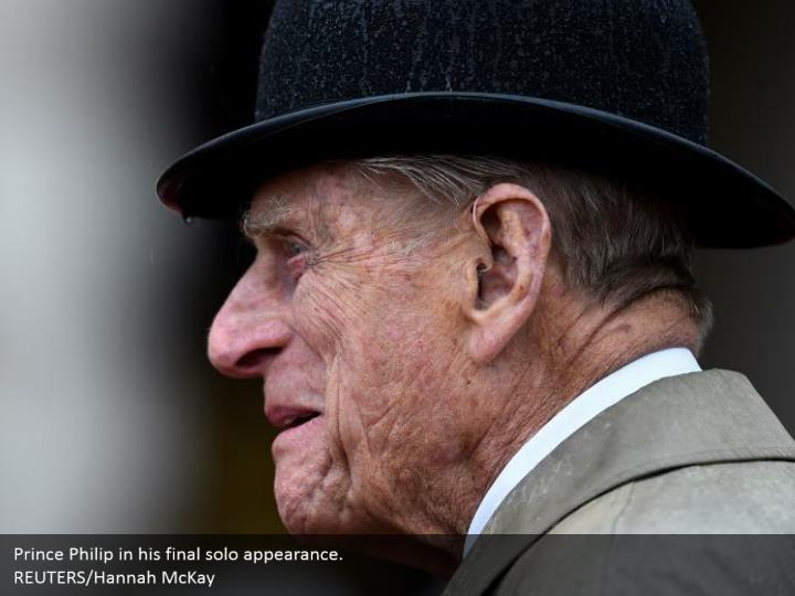 Prince Philip in his final solo appearance.  REUTERS/Hannah McKay